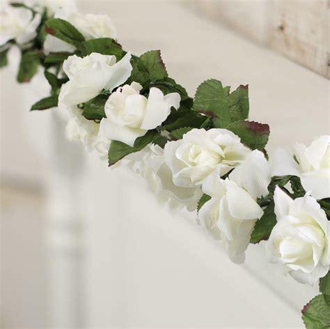 White Chain Link Artificial Rose Garland  Wedding Florals