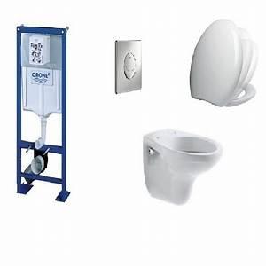 Plaque De Commande Wc Suspendu : pack complet wc suspendu bati grohe sl autoportant ~ Dailycaller-alerts.com Idées de Décoration