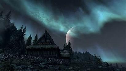 Skyrim Elder Scrolls Wallpapers Scenery Pixelstalk Cave