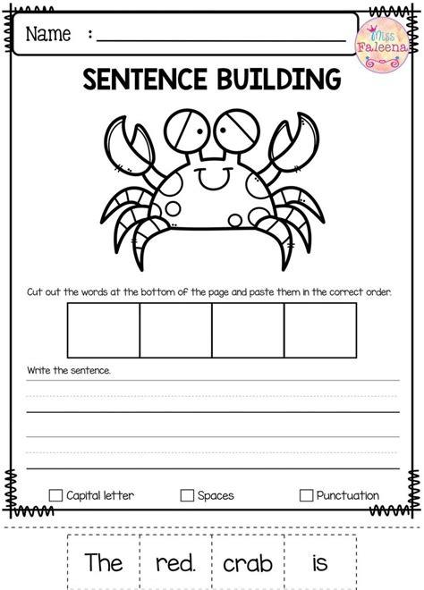 write sentence worksheet  kindergarten