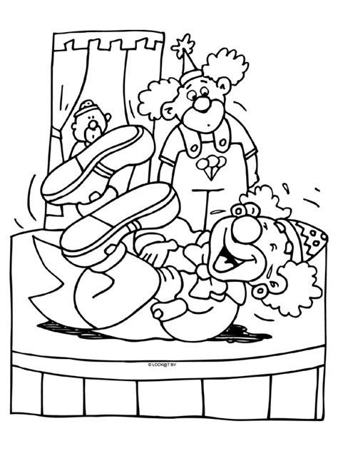 Kleurplaat Circuspaard by Kleurplaat Clown Blijft Lachen Kleurplaten Nl