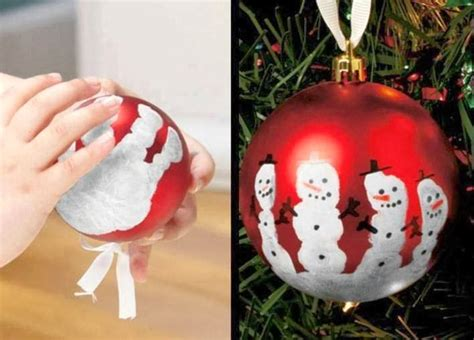 now you can pin it keepsake hand print snowman ornament