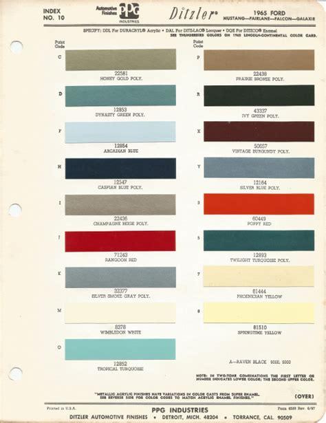 1965 Ford Mustang Car Paint Colors - UreKem Paints