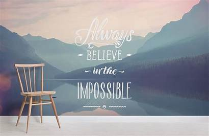 Inspirational Quote Impossible Quotes Murals Mural Pastel