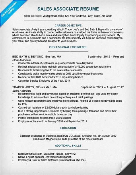 Resumes For Sales Associates by Retail Sales Associate Resume