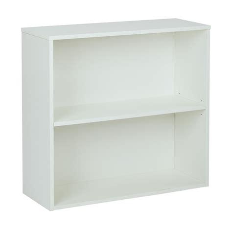 2 Shelf White Bookcase by Quot Prado 30 Quot Quot 2 Shelf Bookcase 3 4 Quot Quot Shelf White