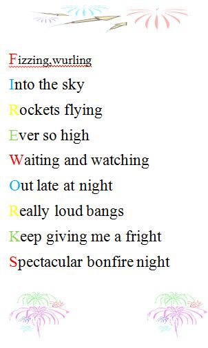 firework acrostic poetry google search acrostic poetry