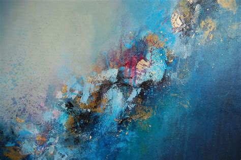 modern blue painting original abstract painting blue abstract painting modern canvas large canvas painting