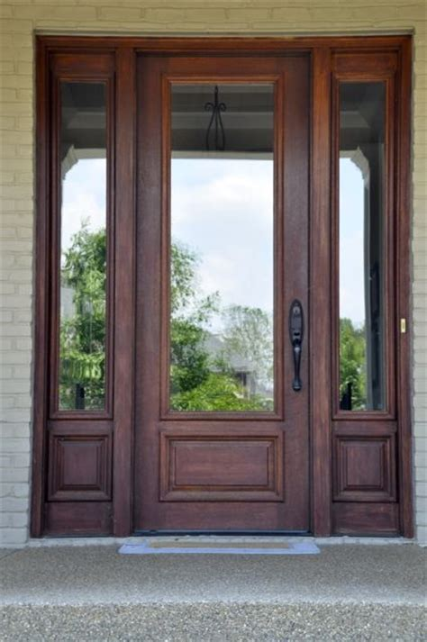 wood front doors with glass 25 best ideas about wood front doors on front