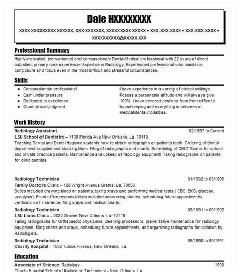 Radiologist Resume by Radiology Assistant Resume Sle Assistant Resumes