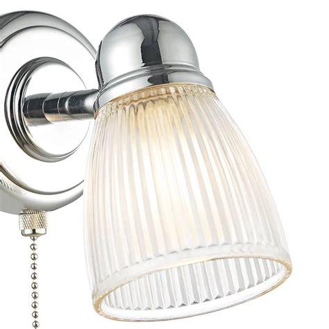 ribbed glass wall light polished chrome lightbox