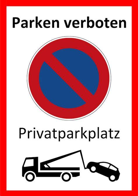 schild parken verboten parken verboten schild zum ausdrucken word muster