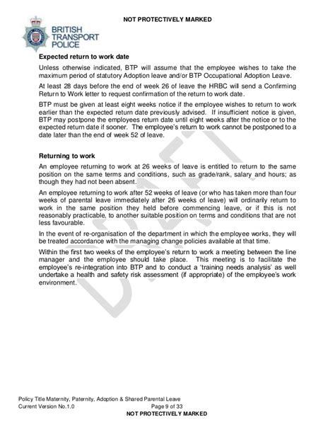 Resignation Letter Sample After Maternity Leave Uk - resig letter qhtypmshared parental leave