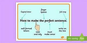 The Perfect Sentence Display Posters    Work Mats