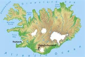 Eyjafjallajokull Iceland Map World