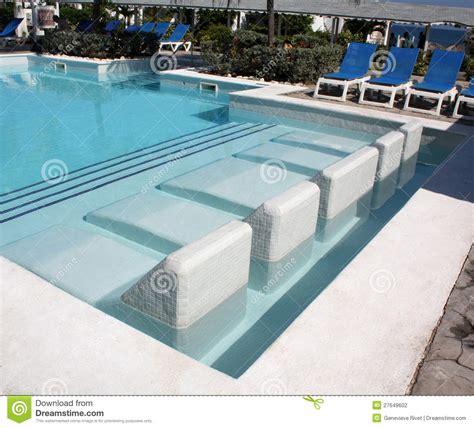 Seats Into A Swimming Pool Stock Photo Image Of Swim
