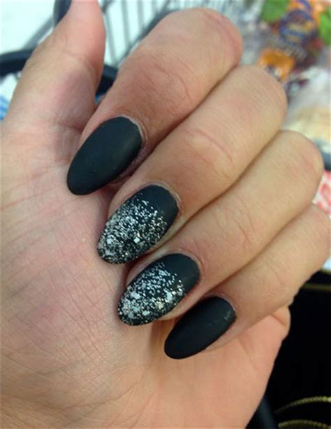 black silver gel nail art designs ideas
