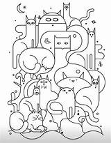Cat Colouring Pages Embroidery Designs Quilt sketch template