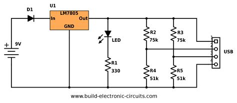 portable usb charger circuit build electronic circuits
