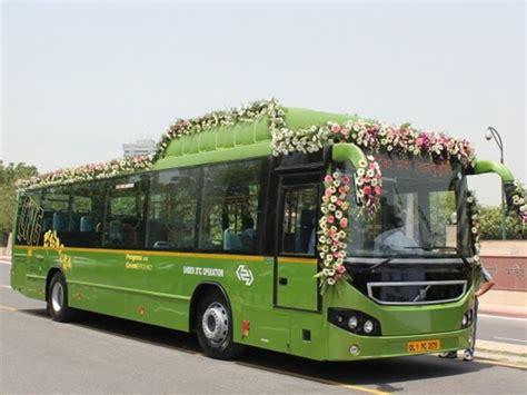 volvo cng  floor city bus introduced  delhi