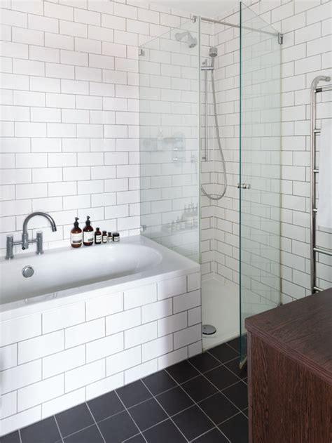 white tile bathroom home design ideas pictures remodel