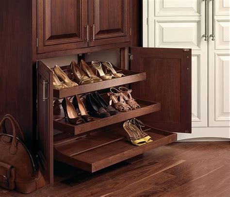 pull out shoe rack 25 shoe storage cabinets ideas