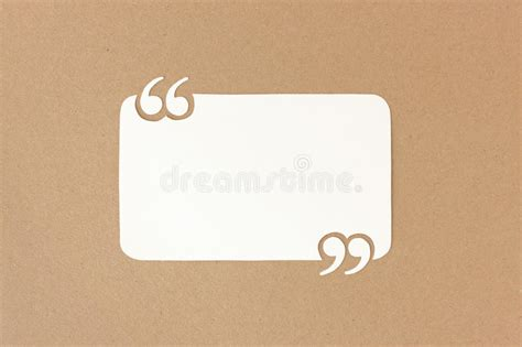 Paper Quote Template With Quotation Marks Stock Photo