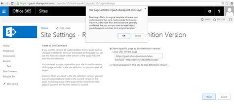 si e d inition resetting the site definition via powershell in sharepoint
