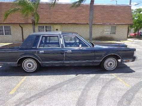 auto air conditioning repair 1986 lincoln town car navigation system buy used 1986 lincoln town car signature sedan 4 door 5 0l in fort lauderdale florida united