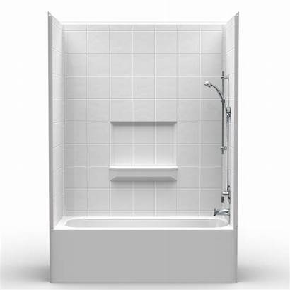 Shower Tub Combo Piece Inch Height 60