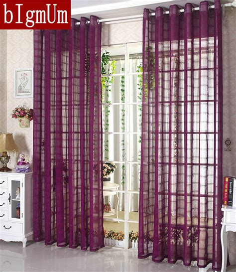 aliexpress buy linen tulle sheer voile curtains