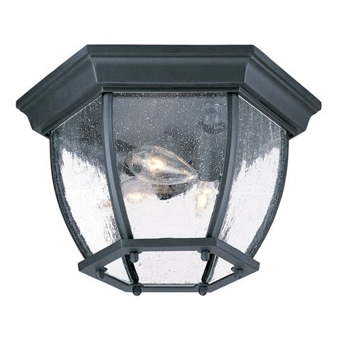 shop acclaim lighting 11 in w matte black outdoor flush