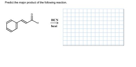 Solved Predict The Major Product Of The Following