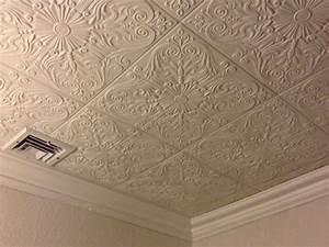 Spanish Silver Styrofoam Ceiling Tile 20x20 R139