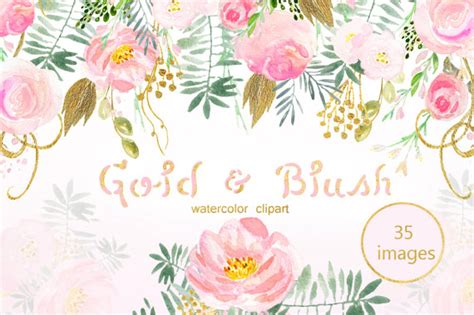 pink  gold blush clipart   cliparts  images  clipground