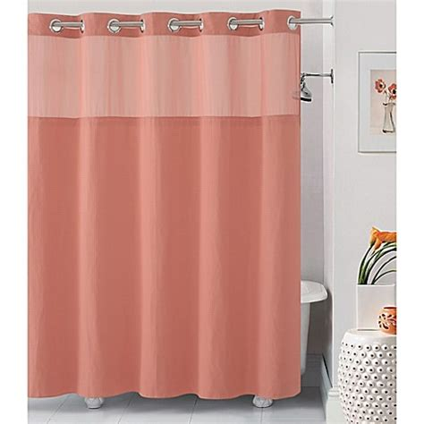hookless shower curtains buy hookless 174 waffle 71 inch x 74 inch fabric shower