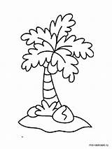 Palm Coloring Tree Pages Printable Trees Colors sketch template