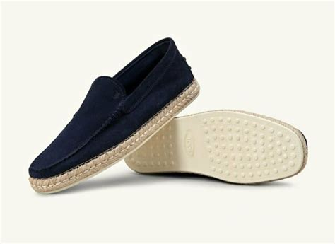 tods slip ons blue suede mens size  brand