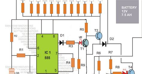 Led Emergency Light Circuit With Battery Over Charge