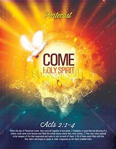 pentecost come holy spirit religious flyer template With religious flyers template free