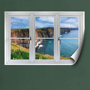 irish cliffs instant window wall decal shop fathead With faux window wall decal for home
