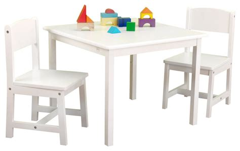 aspen table and chair set white by kidkraft modern