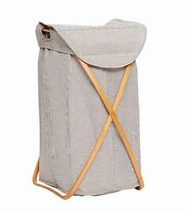 Panier à Linge Bambou : laundry basket grey fabric and bamboo ~ Dailycaller-alerts.com Idées de Décoration