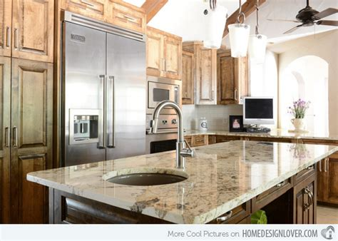 kitchen island with different countertop 15 different granite kitchen countertops decoration for 8243