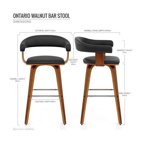 chaise de bar cuisine chaise de bar faux cuir bois ontario cuisine