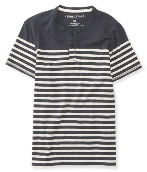 aeropostale mens striped ss henley shirt ebay