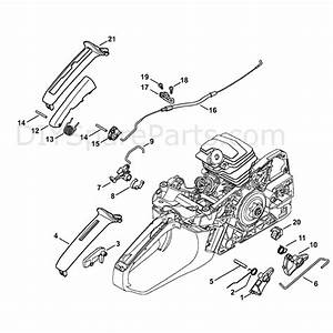 Stihl Ms 231 Chainsaw  Ms231c  Parts Diagram  Throttle Control