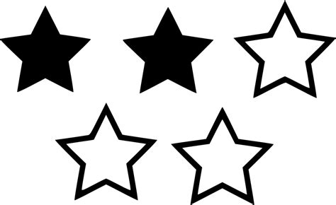 Two Star Rating Svg Png Icon Free Download (#530232