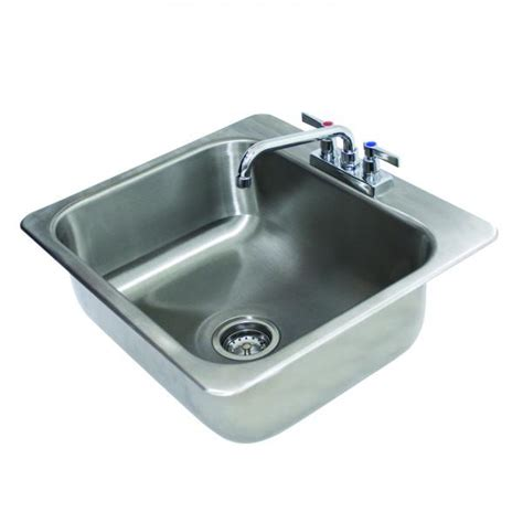 advance tabco di 1 208 drop in sink 1 compartment 20 quot wide x 16 quot front to back x 8 quot bowl 18