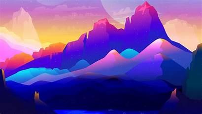 Minimalist Landscape Minimalism Colorful 4k Mountains Minimalistic